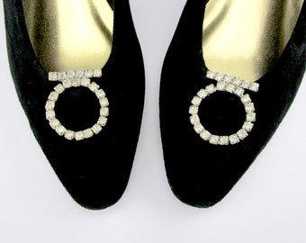 Rhinestone Shoe clips Clear