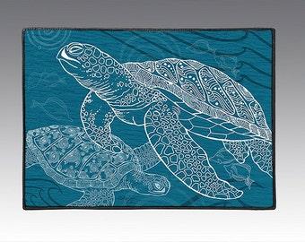 """Sea Turtles One Color 18"""" x 24"""" Door Mat, Floor Mat, Home Decor"""