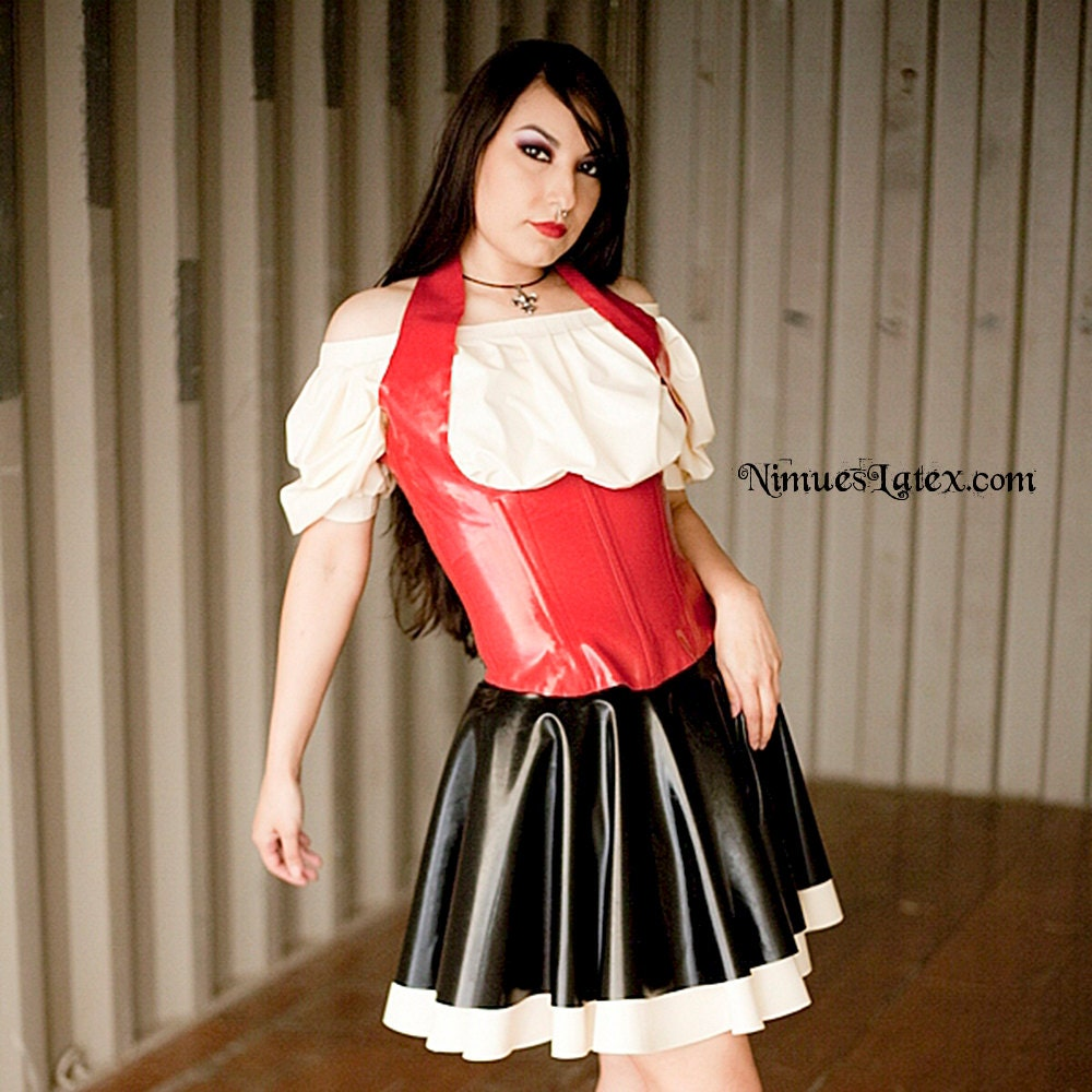 Latex PinUp Kleid Frollein - Isabeau Ouvert Latex