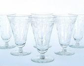 Deauville Art Deco Crystal Iced Tea Parfait Glasses: Set of 4, Rare