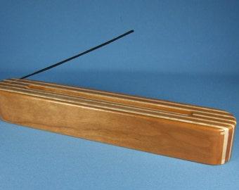 Incense Burner - Cherry Hardwood