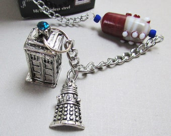 Beaded Tea Infuser - Cup of Tea - Tiny Dalek  (TC-164)