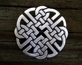 Celtic Knot-Work Pewter Brooch Pin | Celtic Jewelry | Medieval Jewelry | Handcrafted Jewelry | by Treasure Cast Pewter
