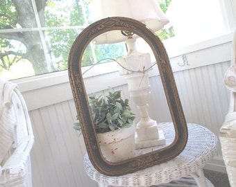 Vintage Gesso Frame * Floral Swags * Shabby French Cottage * Antique