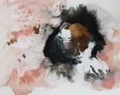 abstract watercolor, original painting, original art, boho art, abstract art, Watercolors paintings original, Pantone rose quartz, wall art