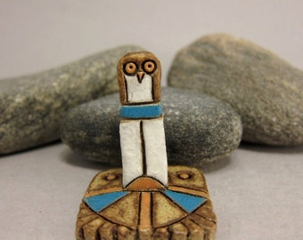 MyLand - Totem - Collectible 3x3 cm or 1.2x1.2 in. puzzle in stoneware