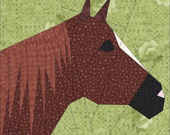 Horse Heads Paper Piece PDF  Quilt Patterns by MadCreekDesigns