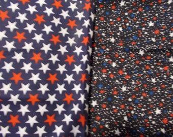 Star Fabric Lot Patriotic Fabric Red White Blue Fabric Quilting Fabric 4Th of July Fabric Independence Day Stars 2 Remnants Scraps Lot