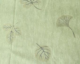 "John Wolf Fabrics Green Leaf Fabric Metallic Gold Leaves Upholstery Fabric Heavy Weight Fabric 1 Yard x 54"""