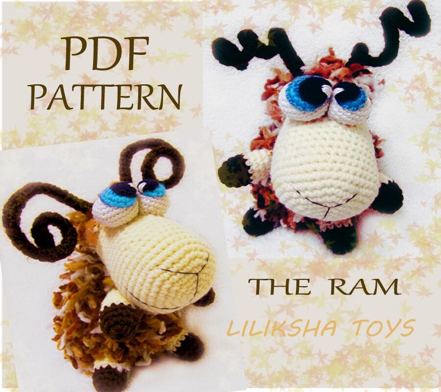 Amigurumi Zodiac Patterns : Amigurumi pattern The Ram . Zodiac Toys Series