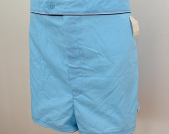 Vintage 1960's JC Penney Swim Trunks mens swimsuit size xl 42 NEW nwt dead stock made in usa