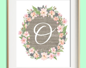 Letter O Wall Art Gorgeous Letter C Printable Instant Download Baby Girl Nursery Wall Inspiration Design