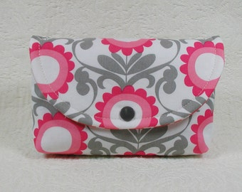Snap Pouch, Large Snap Pouch, Cosmetic Pouch, Diaper Bag Pouch ... Mod Daisy