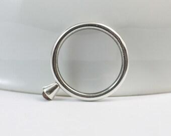 SALE Orange Sapphire Sterling Silver Ring