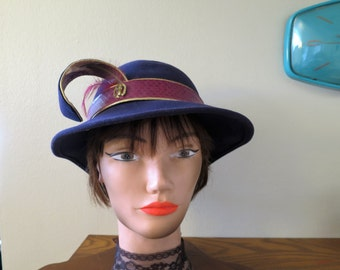 1960s Purple Hat by Mr. John