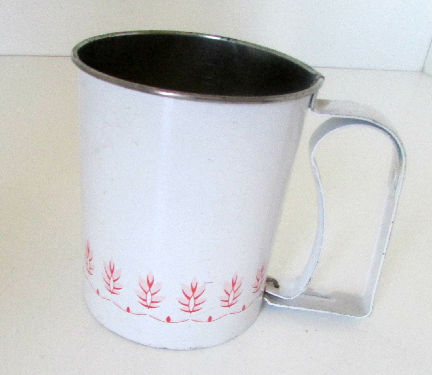 Vintage Androck Flour Sifter Red Wheat Design Smaller Size
