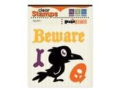 Halloween Raven Clear Stamp Set Bird Beware Stamp