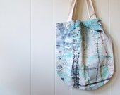 the Hand Painted tote ... one of a kind, hand painted canvas tote bag