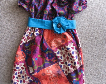 Little girl flower waist band dress