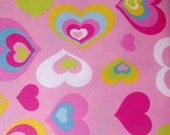 Colorful Hearts PUL by the Yard