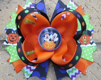 Mickey Mouse Minnie Mouse Inspired Halloween Boutique Fun Funky Boutique Hair Bow