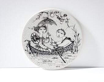 Björn Wiinblad plate by Rosenthal Studio Linie, Juli Nocturne