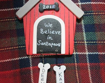 Personalized Dog House Ornament