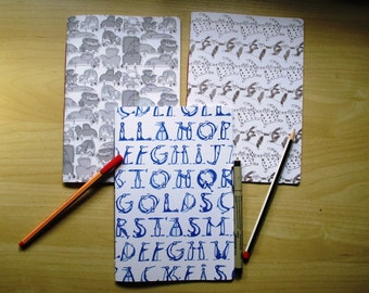 Set of Three Jotter Journals, Notebooks, Funny, A5 lined paper
