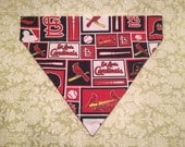 Pet Accessory - St. Louis Cardinals Tiled - Over the Collar - Custom - Bandana, Bow Tie, Neck Tie, Flower
