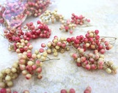 Pepper berries-Small pods-floral supplies-Pink berries-Natural pods-German Statice-Button  flowers