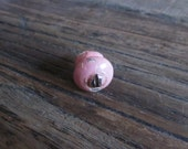 Tiny vintage painted wooden knob pink