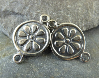 Artisan Sterling Silver Banjara Kuchi Replica Links - Banjara Kuchi Findings - Sterling Daisy Links - lbkd
