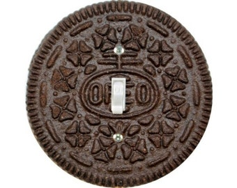 Chocolate Sandwich Cookie Single Toggle Switch Plate Cover
