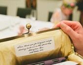 Custom Message Label | Monogram | Personalize a Clutch | Monogrammed Gifts [Add-On: Custom Message Label]