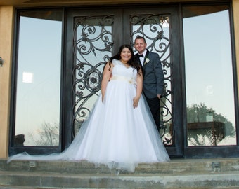 PLUS Size Custom Made Wedding Dress