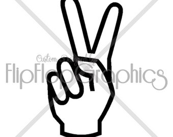 Peace Sign Vinyl Graphic,  Vehicle Window Sticker