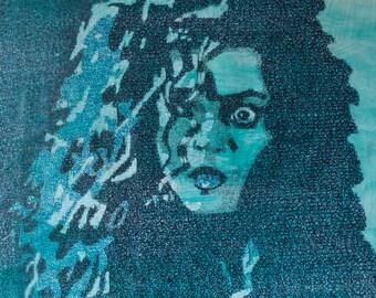 Bellatrix LeStrange Micrography Portrait Print