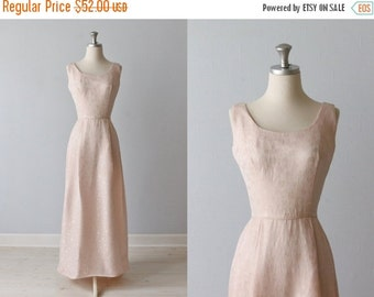 SALE 1960s Dress / Pink Formal Dress / Sleeveless / Full Length Gown / China Cup