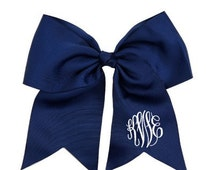 Personalized  Dance Ballet Cheer Navy Hairbow 6 1/2""