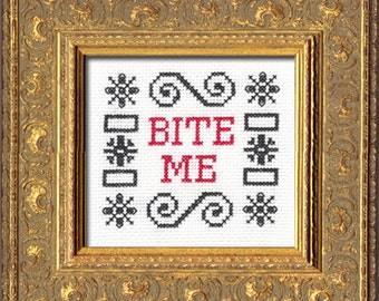 Subversive Cross Stitch PDF pattern: Bite Me