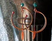 Hoop Earrings, Copper, Tribal, Hippie Earrings, Celtic Jewelry