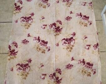 Antique Fabric Barkcloth French 19thc