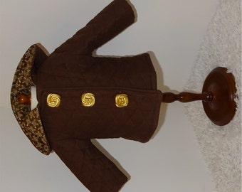 Brown Quilted Jacket, Fits 18 Inch American Girl Dolls