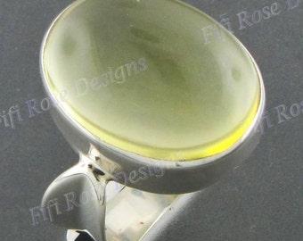 Design 20ct Lemon Quartz 925 Sterling Silver Sz 9 Ring