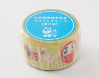 Japanese folk toys - limited edition masking tape - mt x yu nakagawa - east japan -