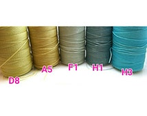 new / WAX-D8.A5.F1.H1.H3 / 15meter *16.4yd *49feets - 1mm Waxed Coated Flat Polyester Strings / Waxed Cords / Waxed Threads.