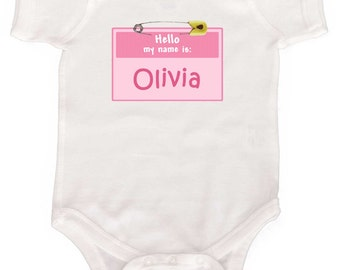 Personalized Funny Baby Girl Bodysuit Girl Creeper by Mumsy Goose NewBorn Coming Home Outfit