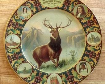 1907 BPOE Elks Philadelphia Convention tin litho metal souvenir plate
