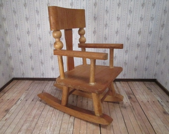Vintage Doll Furniture - Rocking Chair for Ginny - Play Scale - MIJ