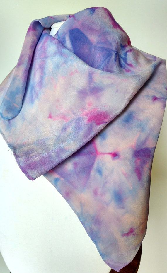 Purple Haze scarf, multi-colored purple, magenta and blue silk scarf, women's scarves, wraps for women, belts for women, sashes for women